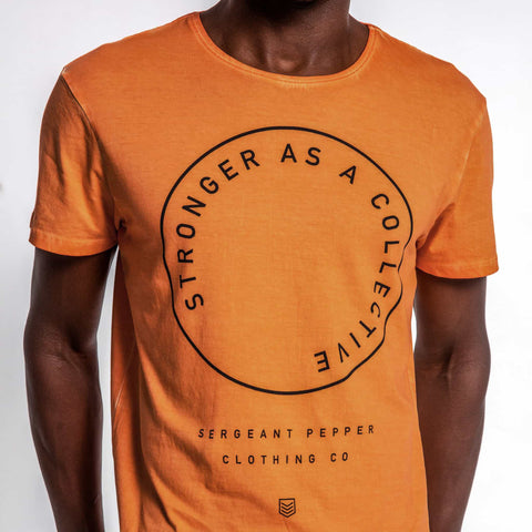SGT1537 - The Loop Tee - Rescue Orange - Detailed Front Print