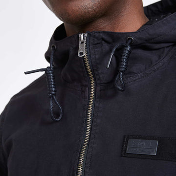 SGT1552 - Camden Jacket - Black - Detailed Collar View