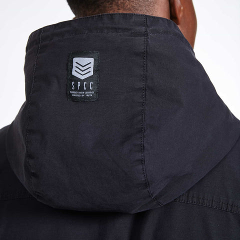 SGT1552 - Camden Jacket - Black - Detailed Hood Label