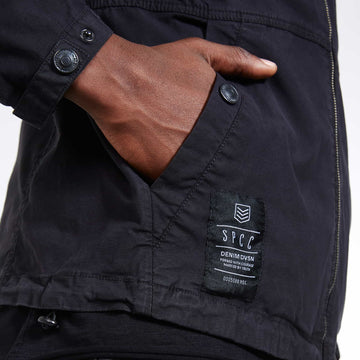 SGT1552 - Camden Jacket - Black - Detailed Cuff and Hem Label