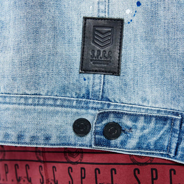 SGT-1583 - The Inca Denim Jacket - Light Blue - Detailed  Hem Label