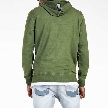 SGT1590C - The Tokyo Hoodie - Light Fatigue - Back View
