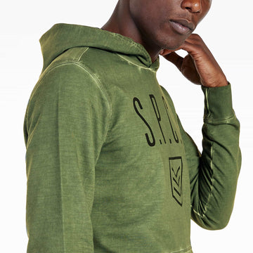 SGT1590C - The Tokyo Hoodie - Light Fatigue - Detailed Side View