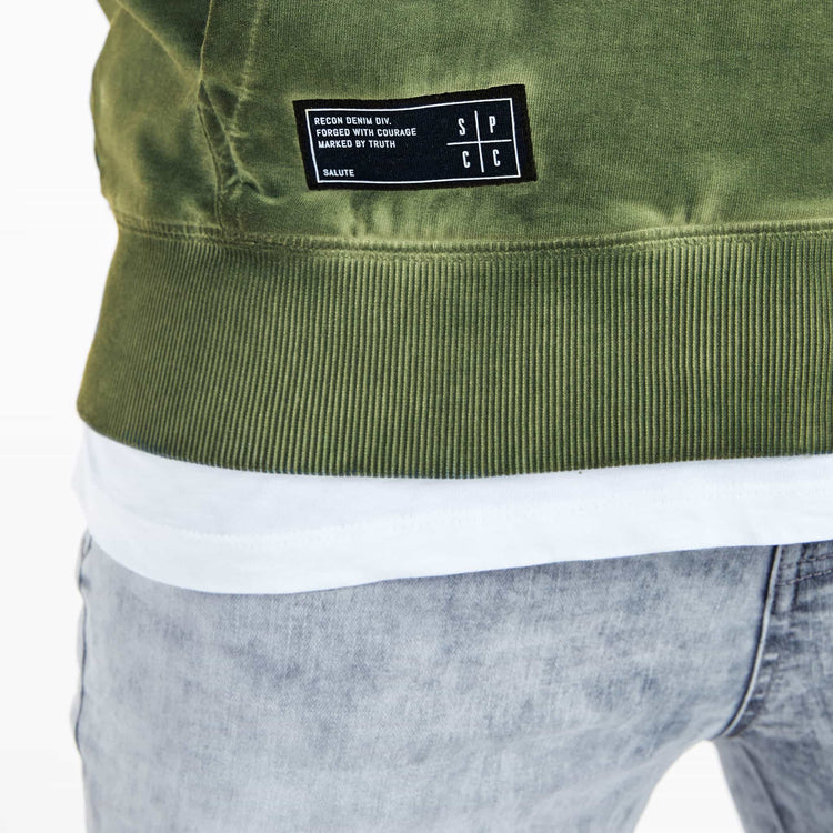 SGT1590C - The Tokyo Hoodie - Light Fatigue - Detailed Hem Label
