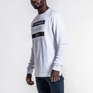 SGT1591 - Box Sweatshirt - White - Side View
