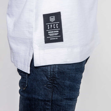 SGT1591 - Box Sweatshirt - White - Detailed Hem Label