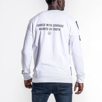 SGT1596 - The Vision Sweat Shirt - White - Back View