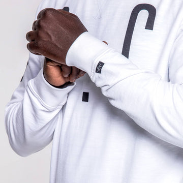 SGT1596 - The Vision Sweat Shirt - White - Detailed Cuff