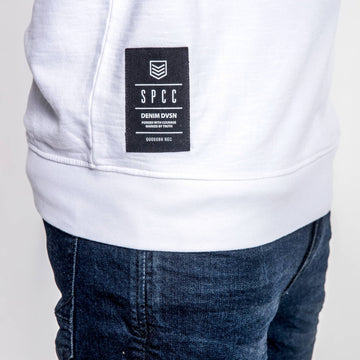 SGT1596 - The Vision Sweat Shirt - White - Detailed Hem Label