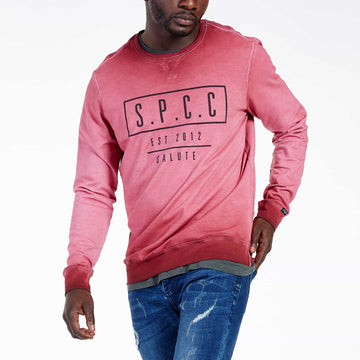 SGT-1599A - The Strip Sweat Shirt - Burnt Red - Front View