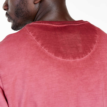 SGT-1599A - The Strip Sweat Shirt - Burnt Red - Detailed Back View