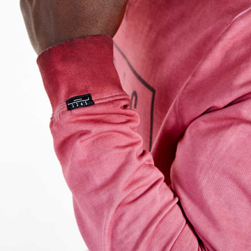 SGT-1599A - The Strip Sweat Shirt - Burnt Red - Detailed Sleeve Cuff
