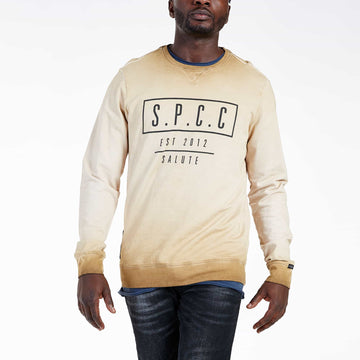 SGT1599C - The Strip Sweat Shirt - Tobacco - Front View