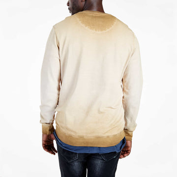 SGT1599C - The Strip Sweat Shirt - Tobacco - Back View