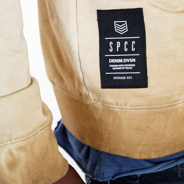 SGT1599C - The Strip Sweat Shirt - Tobacco - Detailed Hem Label