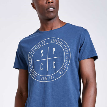 Bypass T-shirt - Denim Blue - S.P.C.C.® Official Online Store
