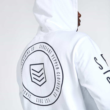 Arrow Hoodie - Optical White - S.P.C.C.® Official Online Store