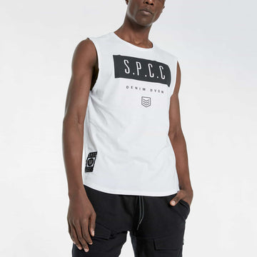 Shearer Sleeveless Tee - White