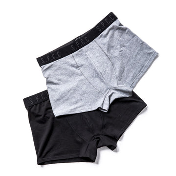 2 Pack Boxer Briefs - Black/Grey