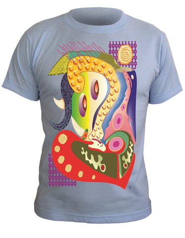 T-Shirt with Artistic Print - 002
