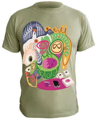 T-Shirt with Artistic Print - 004