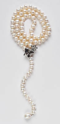 FWP 106 Y shape freshwater pearls 6-7mm necklace 55cm long.