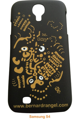 Artistic Black Samsung S4 Cover