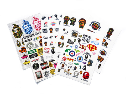 A Bathing Ape Stickers lucky dip