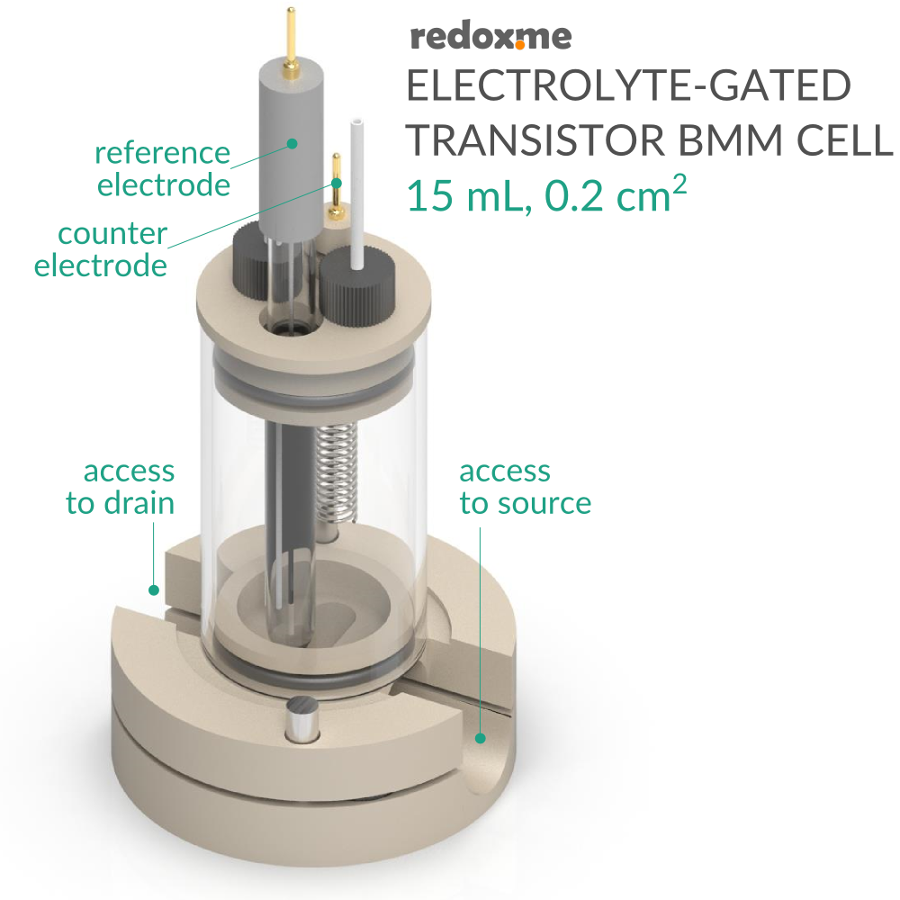 Electrolyte-Gated Transistor Bottom Magnetic Mount Cell