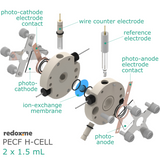 PECF H-Cell 2x1.5 mL - Photo-Electrochemical Flow H-Cell
