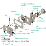 SPECTRO-ECSynth FH-CELL 1.5 and 3 mL - Spectro-Electrosynthesis Flow H-Cell 1.5 and 3 mL