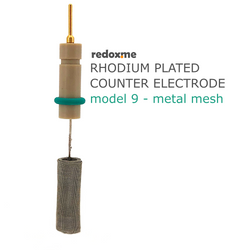 Rhodium plated counter electrode model 9 – metal mesh