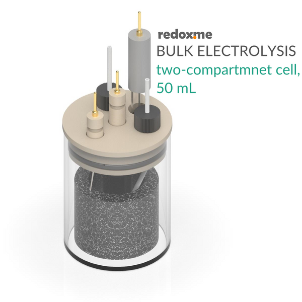 Bulk Electrolysis Two-Compartment Cell - 50 mL