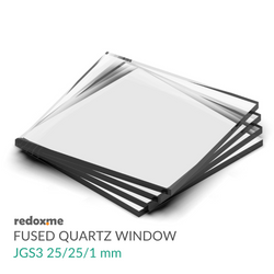 Fused quartz window glass - JGS3 25/25/1 mm
