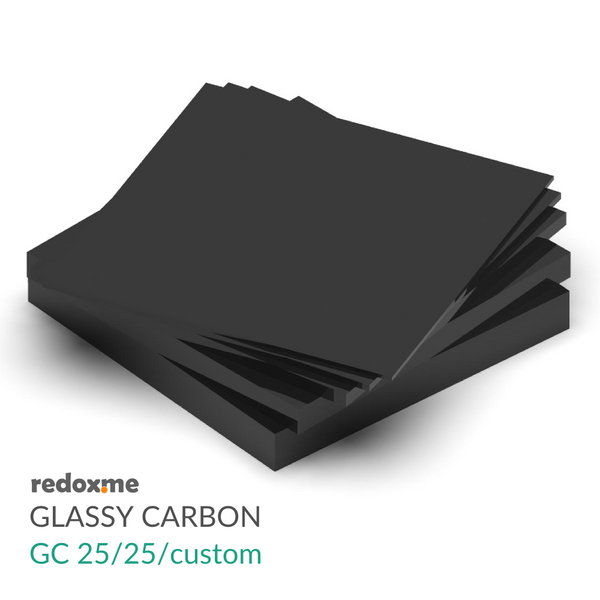 Glassy (Vitreous) Carbon substrates – GC 25/25/custom