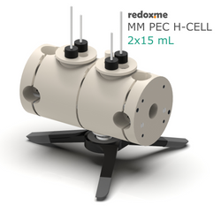 MM PEC H-Cell 2x15 mL- Magnetic Mount Photo-Electrochemical H-Cell