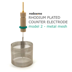 Rhodium plated counter electrode model 2 – metal mesh