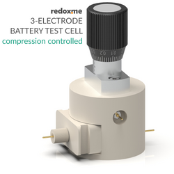 Three Electrode Battery Test Cell – compression controlled