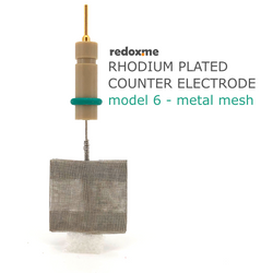Rhodium plated counter electrode model 6 – metal mesh