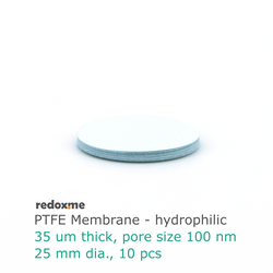 PTFE Membrane - hydrophilic, 25 mm dia. (pack of 10)