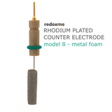 Rhodium plated counter electrode model 8 – metal foam