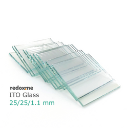 ITO Glass 25/25/1.1 mm – pack of 10