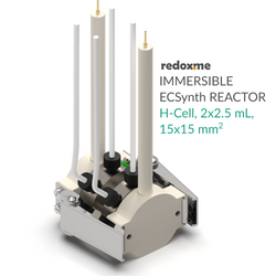 Immersible Electrosynthesis Reactor, H-Cell, 2x1.5 mL, 15x15 mm2