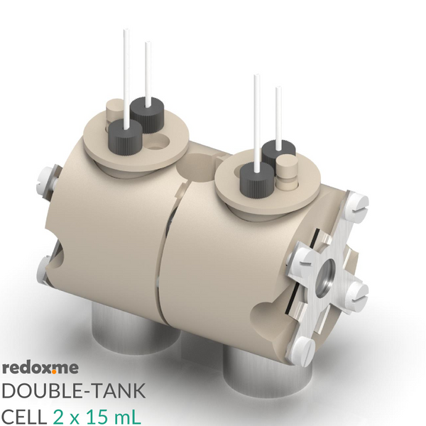 Double-tank cell 2 x 15 mL - Magnetic Mount Double-tank Etch Cell