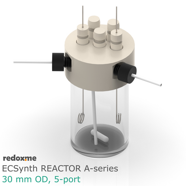 Electrosynthesis Reactor A-series, 30 mm OD, 5-port