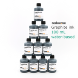 Graphite ink, 100 mL, water-based