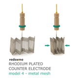 Rhodium plated counter electrode model 4 – metal mesh