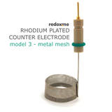 Rhodium plated counter electrode model 3 – metal mesh