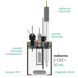 2-CEC+ 50 mL - Two-compartment Electrochemical Cell with additional inlet/outlet