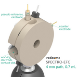 Spectro-EFC, 4 mm path, 0.7 mL - Spectro-Electrochemical Flow Cell with reduced optical path
